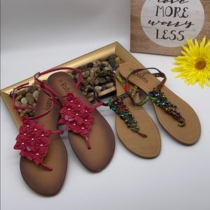 Two pair of sandals size 10